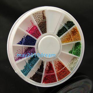 Decoration Glitters Acrylic Tips Manicure Wheel Bead Nail Art 1mm