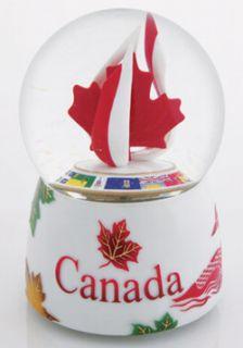 Canada Rotating Musical Snow Globe TWK CASG1701007
