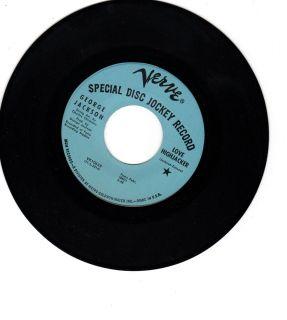 George Jackson SPECIAL DJ Record Love Highjacker Northern soul
