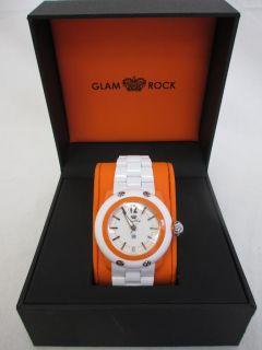 Glam Rock Womens GK4007 Miami Beach White Dial White Resin Watch