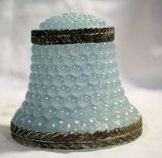 Blue Bubble Glass Lamp Shade