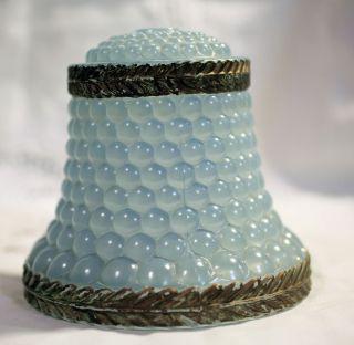 Blue Bubble Glass Lamp Shade
