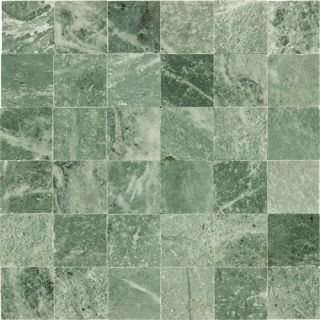 Tiled Mint Green Gold Specks Polished Marble Stone Mosaic Tile