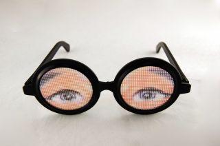Crazy Eyeball Glasses Eye Ball Funny Nerd Eyes Prank Gag Joke Magic