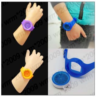 Lovely Jelly Unisex Casual Sport Quartz Wrist Watch Silicone Band