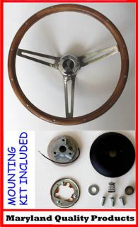 Mustang Grant Wood Steering Wheel Cobra 15 Real Walnut Wood