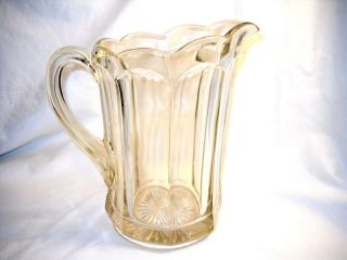 EAPG Panel Pitcher Antique Water Pitcher Early American Pattern Glass