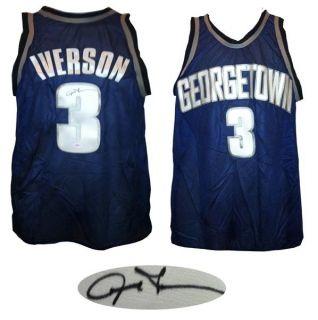 Allen Iverson Signed Georgetown Hoyas Jersey JSA COA Philadelphia