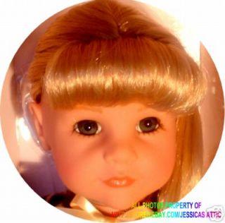 Goetz Anna 20 Blonde Red Holiday Dress Gotz Doll