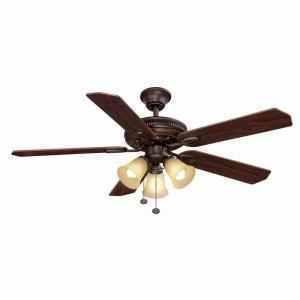 Hampton Bay Glendale 52 in Ceiling Fan with Light Kit Oil Rubbed