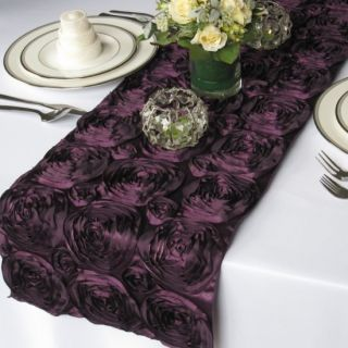 108 Rosette Satin Table Runners Wedding Decorations 20 Colors