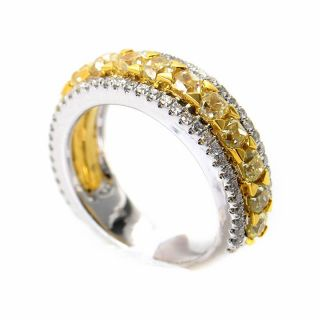 18K White Yellow Gold Brilliant Band Ring