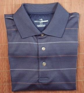 Grand Slam Golf Shirt Mens M Slate Blue Pinstripe Polo Shirt Tee Shirt