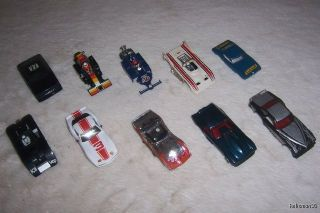 10 HO SCALE SLOT CAR RUNNER BODIES JUNKYARD LOT NO CHASSIS AURORA AFX