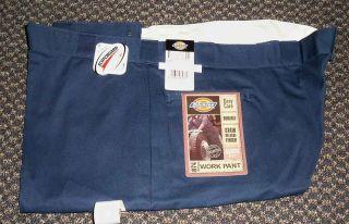 New Dickies 874 Work Pants Scotchguard Permanent Crease Navy Blue