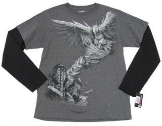 Tony Hawk Boys XL Gray Black Tornado Tee Shirt
