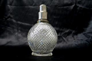 RARE Antique French Lampe Berger Paris Glass Diamond Tip France 1930s