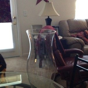 Vintage Hurricane Glass Lamp Shade 16 Tall Excellent Condition