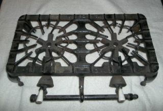 Griswold 32 2 Burner Gas Stove Camping Cast Iron w Porcelain Handles