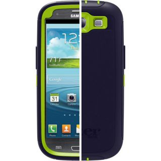 OTTERBOX DEFENDER w Clip PUNKED GLOW GREEN LAKE BLUE SAMSUNG GALAXY S3