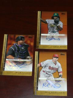 PAUL GOLDSCHMIDT Arizona SP 2012 Topps Update Golden Debut AUTO Card