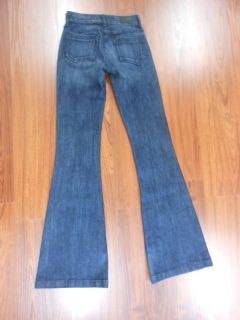 Goldsign Adriano Goldschmied $200 MSRP Bell Flare Mid Blue Denim Jeans