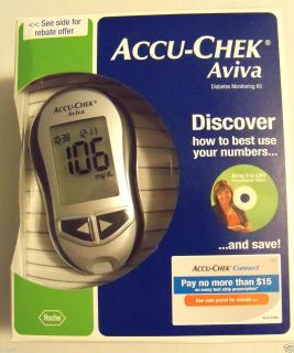 New Accu Check Aviva Blood Glucose Monitor Meter Diabetes System Kit