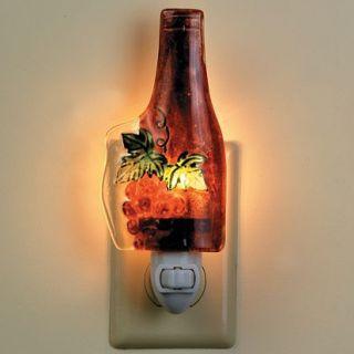 Wine Bottle Grapes Lover Bar Glass Night Light New Kitchen Cafe Decor