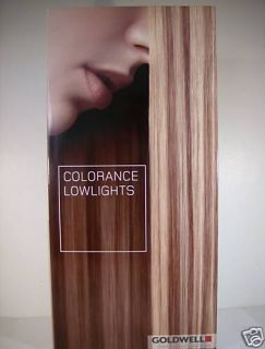 Goldwell Colorance Lowlights Swatch Chart