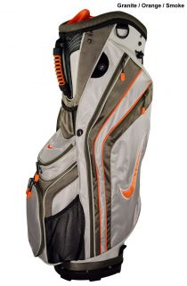 New Nike Golf Sport Cart Bag Granite Orange Smoke