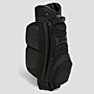 Mens Golf Bag Burton Signature Quality Leather Cart Bag Black 2012
