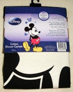 Bathroom Decor MICKEY MOUSE FABRIC SHOWER CURTAIN by Disney GREAT GIFT