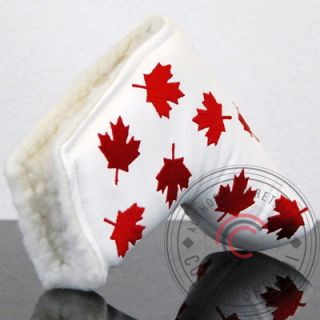 Maple Leaf Golf Putter cover Headcover Fits Scotty Cameron Blade