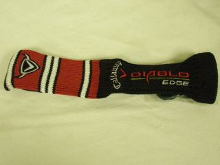 Callaway Diablo Edge Hybrid Headcover Black Red Rescue Golf Club Cover