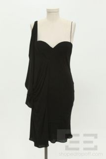 Giambattista Valli Black Sleeveless Drape Detail Dress