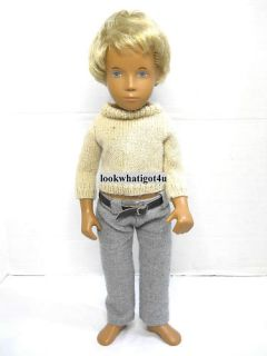 Sasha Gregor Doll Blonde Boy Blue Eyes 16 Vintage
