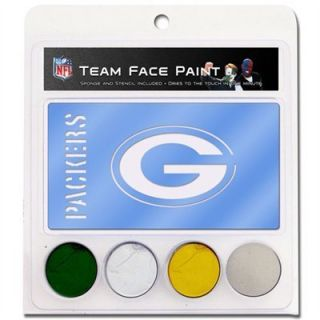 Green Bay Packers NFL Face Paint Stencil Tattoos Kit