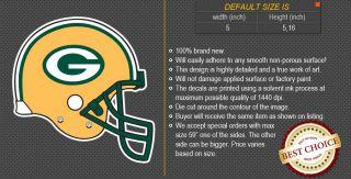 Green Bay Packers Helmet NFL Football Logo Car Bumper Window Wall