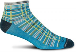 New Goodhew Womens Lifestyle Designs Eclectic Madras Turquoise Socks