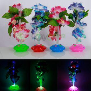 New Colorful Fiber Optic Flower Nightlight Night Light Lamp Xmas