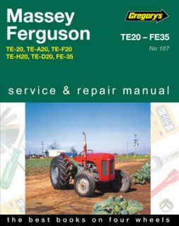 New Gregorys Workshop Repair Manual Massey Ferguson Tractor TE20 FE35