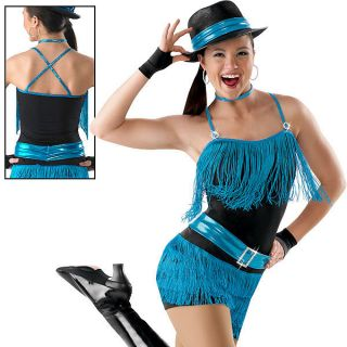 New Giddy Up Blue Black Dance Jazz Pageant Western Wear Competition