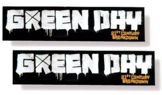 Green Day 21st Century Breakdown Bumper Sticker Pack Set New