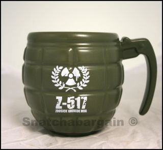 Novelty Office Green Hand Grenade Coffe Tea Mug Cup