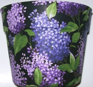 Lilacs Flowers Vines Planter Flower Pot Gift Basket Supplies Party