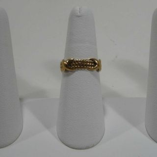Co Jean Schlumberger 18K Yellow Gold Rope Three Row x Ring NR