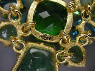 Jay Lane Couture Sim Emerald Green Sea Glass Bib Necklace New