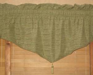SPRINGS Sage Green Chenille Rod Pocket Lined Window Valance 50 x22