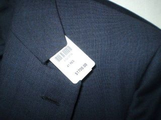1700 Brooks Brothers Golden Fleece Navy Blue Plaid Wool Sport Coat