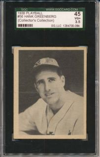 1939 Play Ball 56 Greenberg SGC 3 5